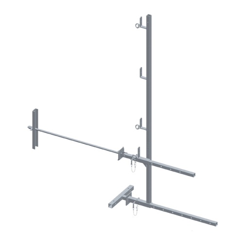Adjustable guardrail for 75 cm wall penetration 1,5m high