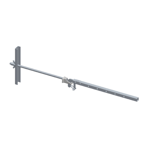 Steel scaffolding attachment with 0.35m wall penetration