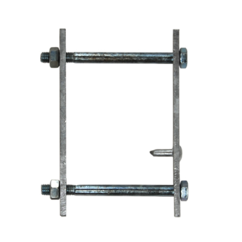 Clamp with bolts for guardrail flat hook