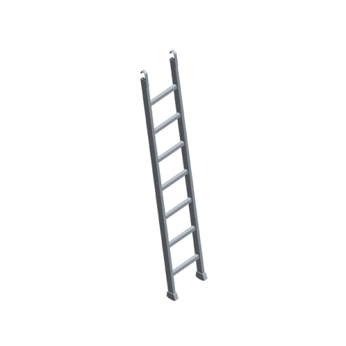 Aluminium ladder for platform board with hatch