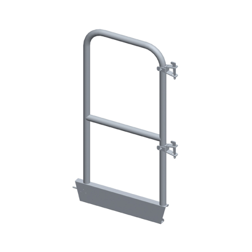 Aluminium end guardrail for round handrail guardrail